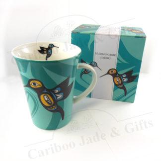 Hummingbird porcelain mug