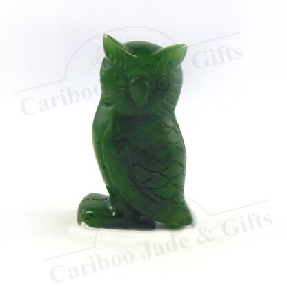 "BC jade carved 1.5"" owl"